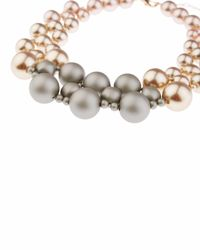 Jaeger - Multicolor Holly Pearl Row Necklace - Lyst