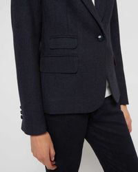 Jaeger - Blue Herringbone Jacket - Lyst