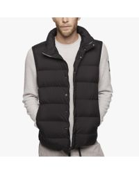 James Perse | Black Yosemite Matte Nylon Puffer Vest for Men | Lyst