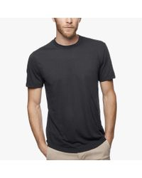 James Perse - Gray Clear Jersey Crew for Men - Lyst