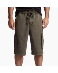 James Perse - Green Stretch Poplin Cargo Short for Men - Lyst