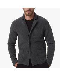 James Perse - Gray Merino Blend Sweater Blazer for Men - Lyst
