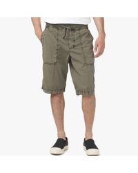 James Perse | Green Cotton Seersucker Utility Short for Men | Lyst