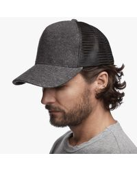 James Perse | Gray Double Face Knit Trucker Hat for Men | Lyst