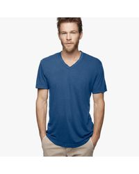 James Perse | Blue Clear Jersey V-neck for Men | Lyst