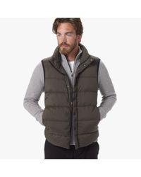 James Perse Green Yosemite Matte Nylon Puffer Vest for men