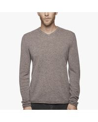 James Perse | Gray Classic Cashmere V-neck Sweater for Men | Lyst