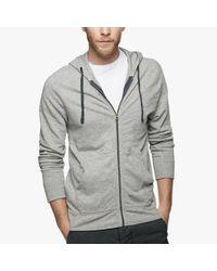 James Perse   Gray Vintage Fleece Hoodie for Men   Lyst