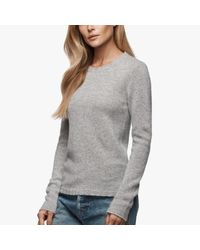 James Perse | Gray Cashmere Crew Neck Sweater | Lyst