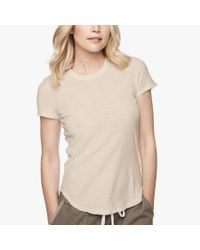 James Perse - Natural Sheer Slub Crew Neck Tee - Lyst