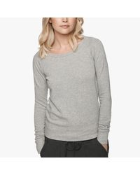 James Perse | Gray Vintage Fleece Long Sleeve Sweatshirt | Lyst