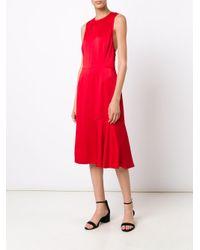 Jason Wu - Red Sleeveless Satin Cocktail Dress - Lyst