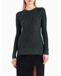 Jason Wu - Multicolor Merino Silk Crew Button Detail Sweater - Lyst