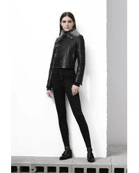 J Brand | Natasha Sky High Skinny In Seriously Black | Lyst