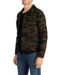 J Brand - Black Gorn Trucker Jacket In Jungle Cloud Camo for Men - Lyst
