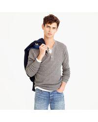J.Crew | Gray Wool-cotton Henley Sweater for Men | Lyst