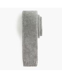 J.Crew | Gray Cotton Mélange Knit Tie for Men | Lyst