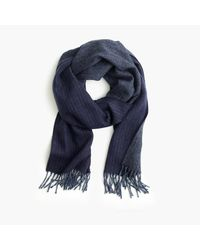 J.Crew | Blue Cashmere Double-faced Scarf for Men | Lyst