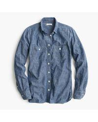 J.Crew | Blue Selvedge Chambray Shirt | Lyst