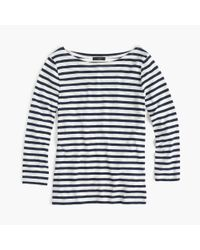 J.Crew - Blue Striped Boatneck T-shirt - Lyst