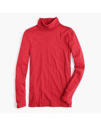 J.Crew | Red Tissue Turtleneck T-shirt | Lyst