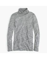 J.Crew | Gray Tissue Turtleneck T-shirt | Lyst