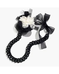 J.Crew | Black Floral Pin Chain Necklace | Lyst
