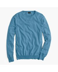 J.Crew - Blue Cotton-cashmere Crewneck Sweater for Men - Lyst