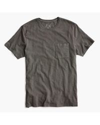J.Crew - Black Slub Cotton Garment-dyed T-shirt for Men - Lyst