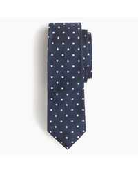 J.Crew | Blue Italian Silk Repp Tie In Dot for Men | Lyst