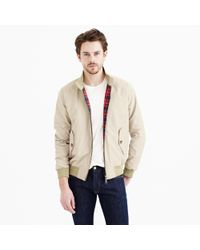 J.Crew | Natural G9 Harrington Jacket for Men | Lyst