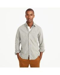 J.Crew - Gray Slim Brushed Twill Shirt for Men - Lyst