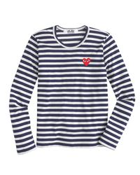 J.Crew | Blue Play Comme Des Garã§ons Stripe Heart T-shirt | Lyst