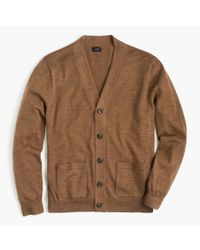 J.Crew - Brown Italian Merino Wool Cardigan Sweater for Men - Lyst