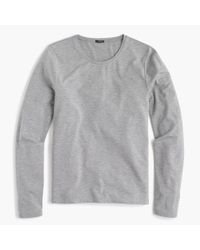 J.Crew - Gray Drapey Long-sleeve T-shirt - Lyst