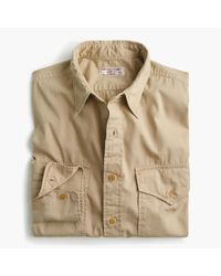 J.Crew | Natural Wallace & Barnes Makin Island Garment-dyed Chino Shirt for Men | Lyst