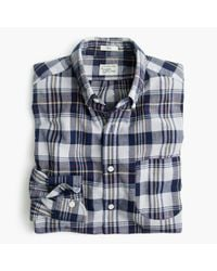 J.Crew - Blue Madras Shirt In Ocean Sun for Men - Lyst