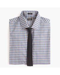 J.Crew - Blue Ludlow Slim-fit Spread-collar Shirt In Microgingham for Men - Lyst