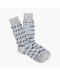 J.Crew - Blue Shadow-striped Socks for Men - Lyst