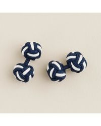 J.Crew | Blue Fabric Knot Cuff Links for Men | Lyst