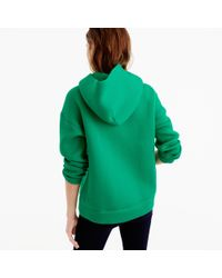 J.Crew Blue Collection Hoodie In Japanese Scuba Fabric