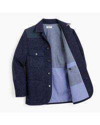J.Crew Blue Wallace & Barnes Wool Norfolk Jacket for men