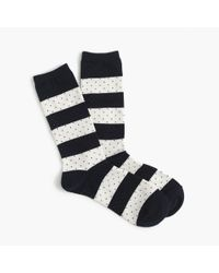 J.Crew - Blue Trouser Socks In Stripes And Dots for Men - Lyst