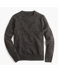 J.Crew - Gray Slim Lambswool Crewneck Sweater for Men - Lyst