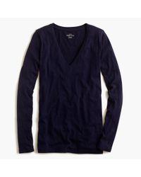 J.Crew - Blue Vintage Cotton Long-sleeve V-neck T-shirt - Lyst