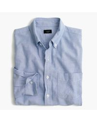 J.Crew | Blue Tall Vintage Oxford Shirt for Men | Lyst