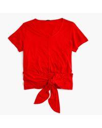 J.Crew | Red Wrap T-shirt | Lyst