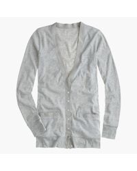 J.Crew - Gray Perfect-fit Mixed-tape Cardigan - Lyst