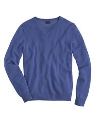 J.Crew | Blue Italian Cashmere Crewneck Sweater for Men | Lyst