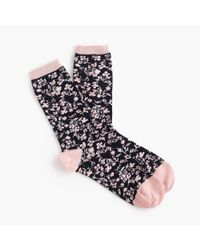 J.Crew - Blue Trouser Socks In Tossed Florals - Lyst